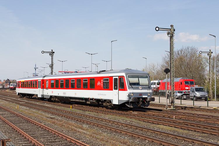 Ein Sylt Shuttle plus rangiert in Niebüll. Foto: G. Meisner