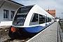"""Bombardier 523/005 - UBB """"946 105-4"""" 17.06.2001 - Zinnowitz (Usedom), BahnhofErnst Lauer"""
