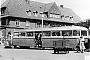 """Borgward ? - SVG """"LT 4"""" __.__.1960 - Westerland (Sylt), BahnhofPförtner (Archiv C. Tiedemann)"""