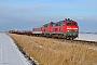 """Henschel 31824 - DB Autozug """"218 366-3"""" 11.02.2012 - Niebüll, Bahnübergang TriangelJens Vollertsen"""