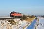 """Henschel 31838 - DB Autozug """"218 380-4"""" 11.02.2010 - Archsum (Sylt)Nahne Johannsen"""