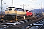 """Henschel 31838 - DB """"218 380-4"""" 26.12.1989 - Saarbrücken, BahnbetriebswerkErnst Lauer"""