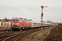 """Krupp 5312 - DB AutoZug """"218 319-2"""" 07.02.2009 - Tinnum (Sylt)Nahne Johannsen"""